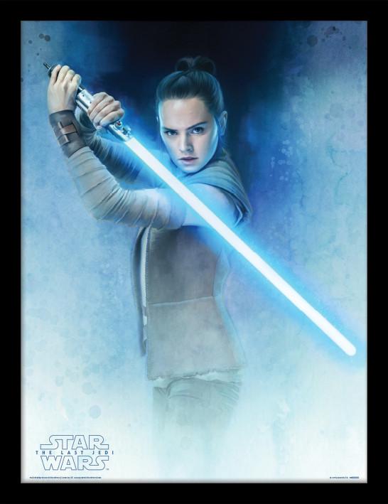 Star Wars: Poslední z Jediů - Rey Lightsaber Guard zarámovaný plakát