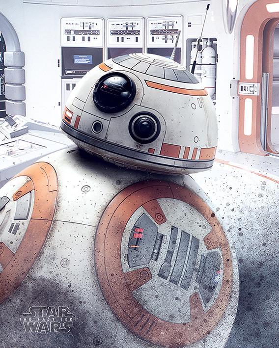 Plakát Star Wars: Poslední z Jediů - BB-8 Peek