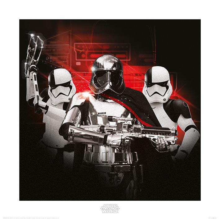 Obraz, Reprodukce - Star Wars: Poslední z Jediů - Stormtrooper Team, (40 x 40 cm)
