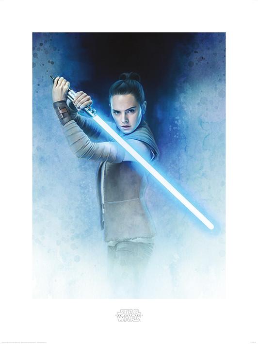 Obrazová reprodukce Star Wars: Poslední z Jediů - Rey Lightsaber Guard