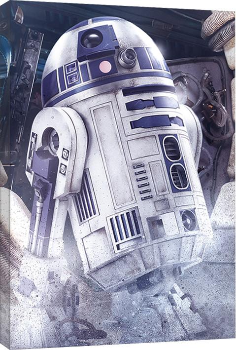 Obraz na plátně Star Wars: Poslední z Jediů - R2-D2 Droid, (60 x 80 cm)