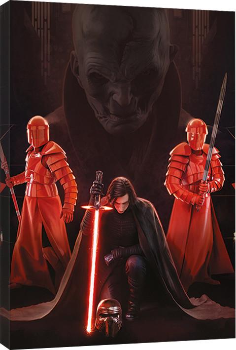 Obraz na plátně Star Wars: Poslední z Jediů - Kylo Ren Kneel, (60 x 80 cm)