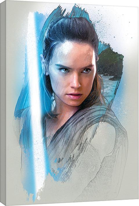 Obraz na plátně Star Wars: Poslední z Jediů - Rey Brushstroke