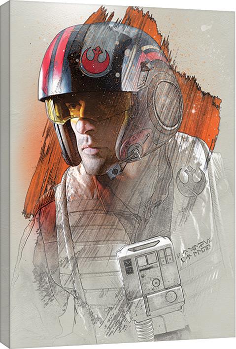 Obraz na plátně Star Wars: Poslední z Jediů - Poe Brushstroke