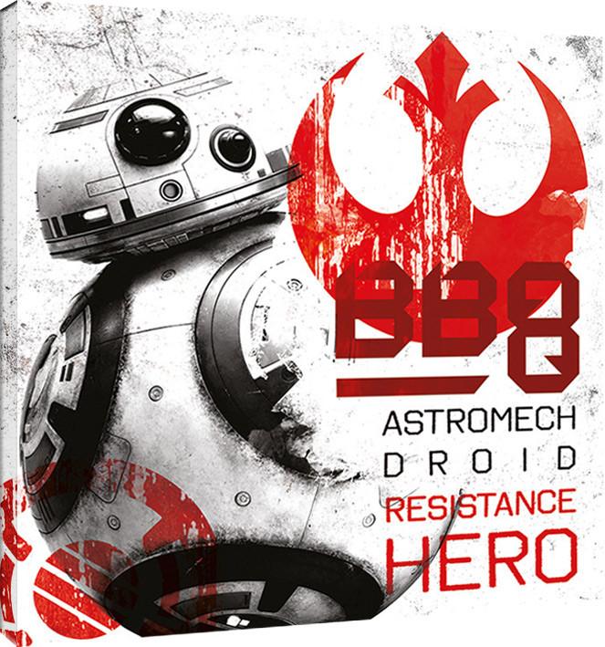 Obraz na plátně Star Wars: Poslední z Jediů - BB-8 Resistance Hero, (40 x 40 cm)