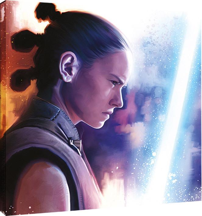 Obraz na plátně Star Wars: Poslední z Jediů - Rey Lightsaber Paint, (40 x 40 cm)