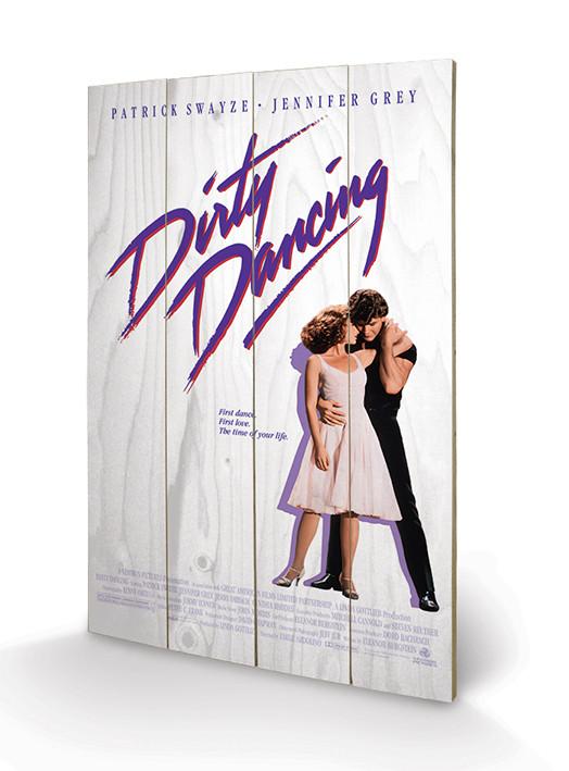 Dřevěný obraz Dirty Dancing - The Time of My Life, (40 x 59 cm)
