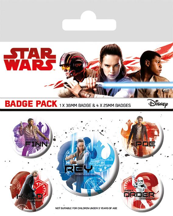 Placka Star Wars: Poslední z Jediů - Icons