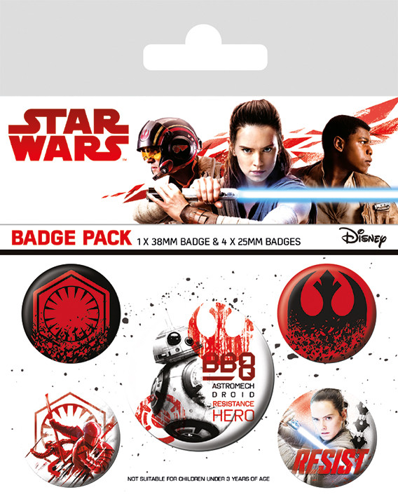 Placka Star Wars: Poslední z Jediů - Resist