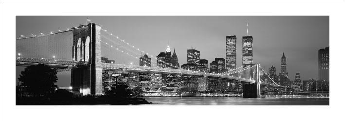Obraz, Reprodukce - New York - Skyline, (33 x 95 cm)