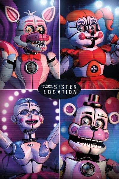 Plakát, Obraz - Five Nights at Freddy's - Sister Location Quad, (61 x 91,5 cm)