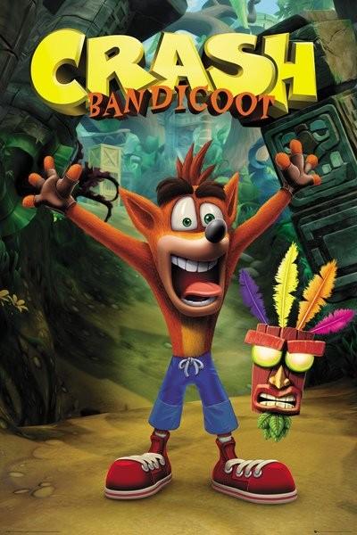 Plakát, Obraz - Crash Bandicoot - Crash, (61 x 91,5 cm)