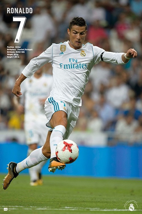 Plakát, Obraz - Real Madrid - Ronaldo 2017/2018, (61 x 91,5 cm)