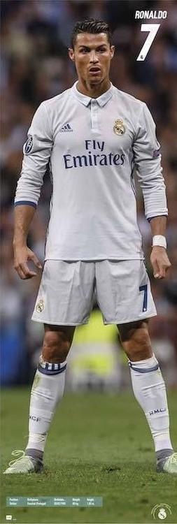 Plakát, Obraz - Real Madrid 2016/2017 Ronaldo, (53 x 158 cm)