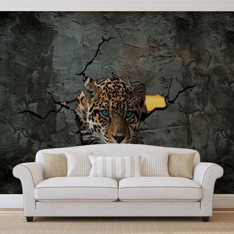 Carta da parati leopard 3d for Carta parati 3d prezzi