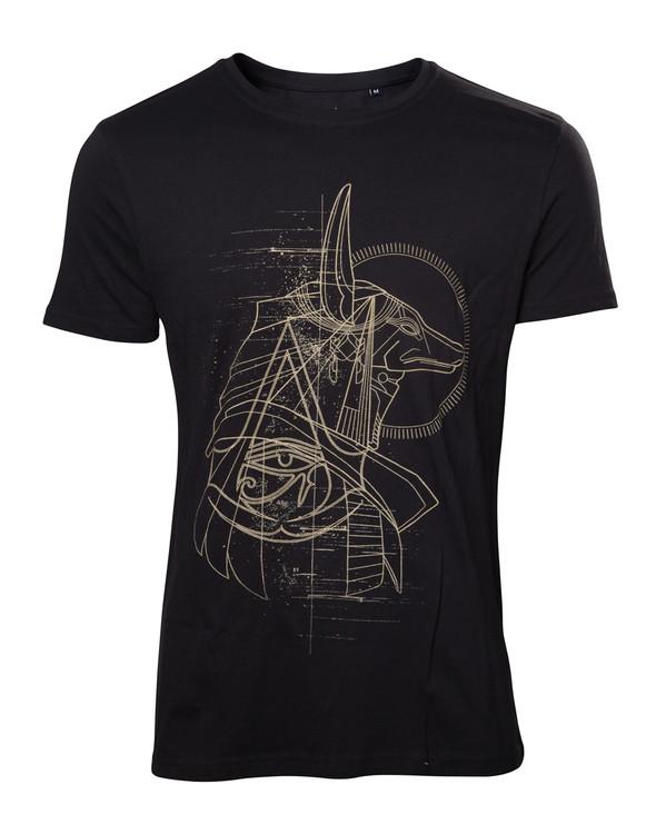 Tričko AC Origins - Anubis Print Men's T-shirt M