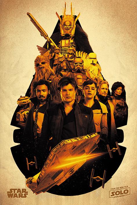 Plakát, Obraz - Solo: A Star Wars Story -Millennium Falcon Montage, (61 x 91,5 cm)