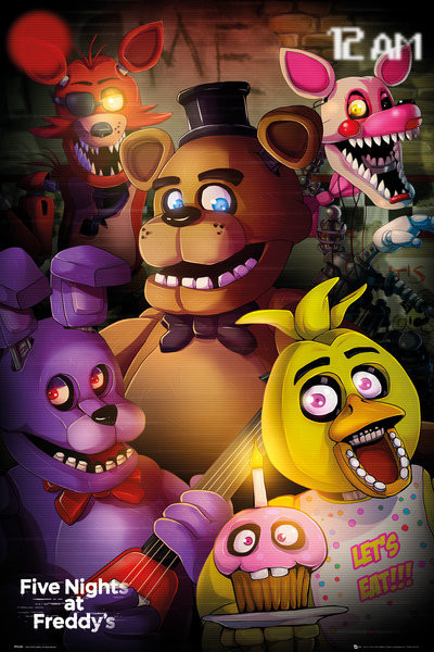 Plakát, Obraz - Five Nights At Freddys - Group, (61 x 91,5 cm)