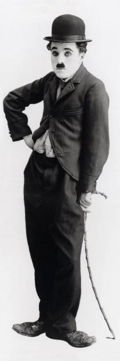 Plakát, Obraz - Charlie Chaplin - tramp, (53 x 158 cm)