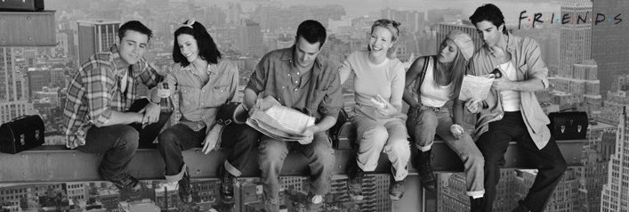 Plakát, Obraz - Friends - Lunch on a skyscraper, (158 x 53 cm)