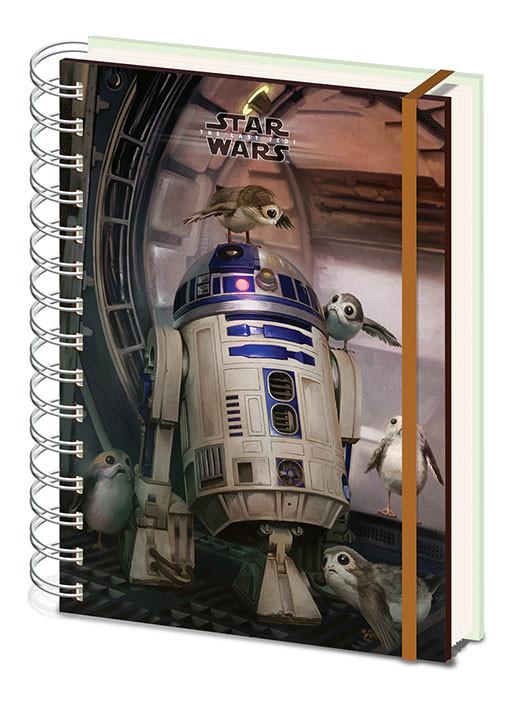 Star Wars The Last Jedi - R2 D2 & Porgs Zápisník