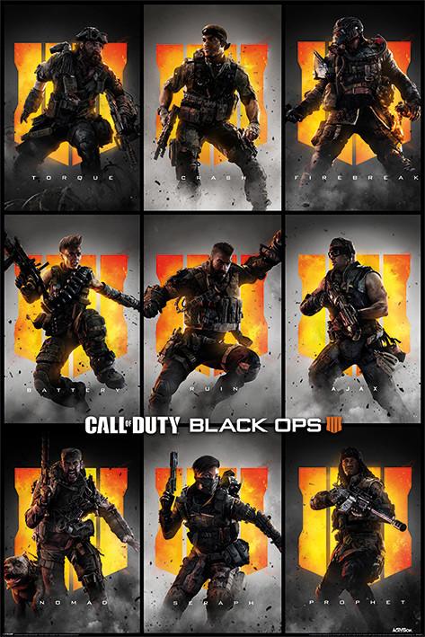 Plakát, Obraz - Call Of Duty – Black Ops 4 - Characters, (61 x 91,5 cm)