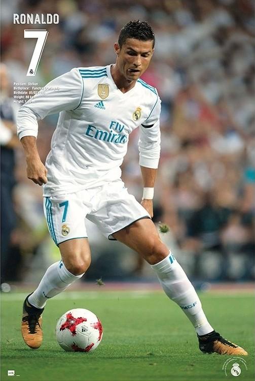 Plakát, Obraz - Real Madrid 2017/2018 - Ronaldo Accion, (61 x 91,5 cm)