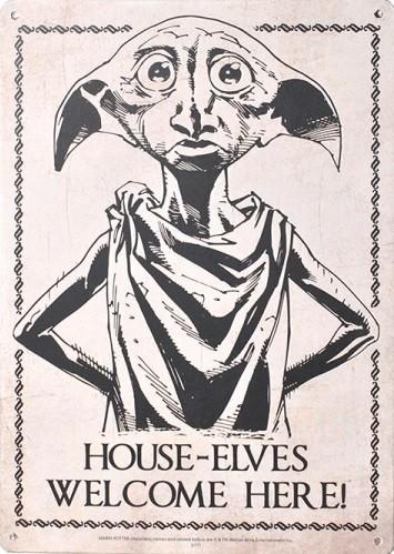 Plechová cedule Harry Potter - Dobby, (15 x 21 cm)