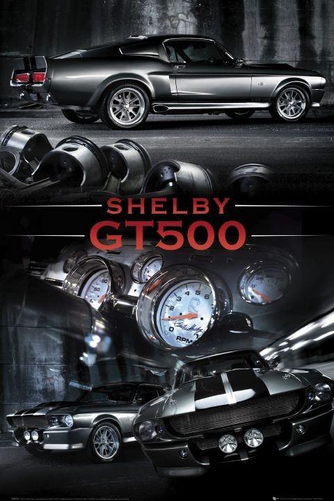 Plakát, Obraz - Ford Shelby - Mustang gt 500, (61 x 91,5 cm)