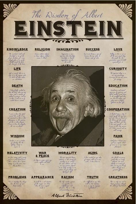 Plakát, Obraz - Albert Einstein - quotes, (61 x 91,5 cm)