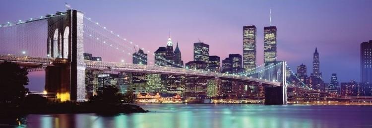 Plakát, Obraz - New York - skyline, (158 x 53 cm)