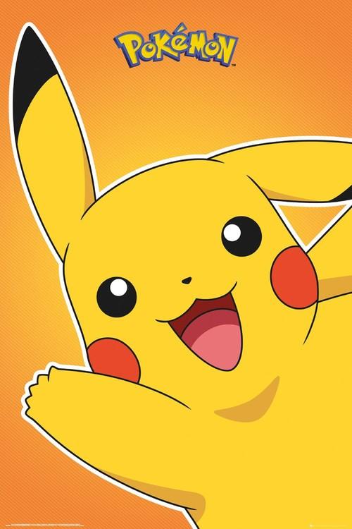 Plakát, Obraz - Pokemon - Pikachu, (61 x 91,5 cm)