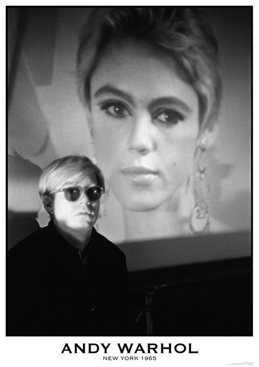 Plakát, Obraz - Andy Warhol - New York 1965, (59,4 x 84 cm)
