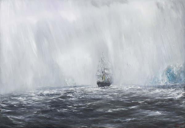 Vincent Alexander Booth - Obraz, Reprodukce - 65 Degrees, 8 Minutes South.Terra Nova 9th Dec.1910. 2007,