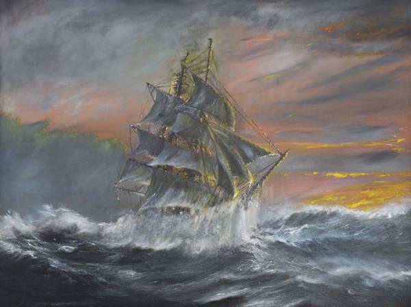 Vincent Alexander Booth - Obraz, Reprodukce - Terra Nova in fierce Gale at dawn Dec 2nd 1910, 2007,