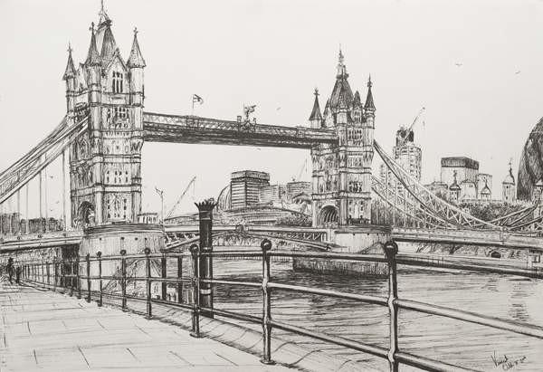 Vincent Alexander Booth - Obraz, Reprodukce - Tower Bridge London, 2006,