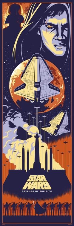 Plakát, Obraz - Star Wars: Epizoda III - Pomsta Sithů, (53 x 158 cm)