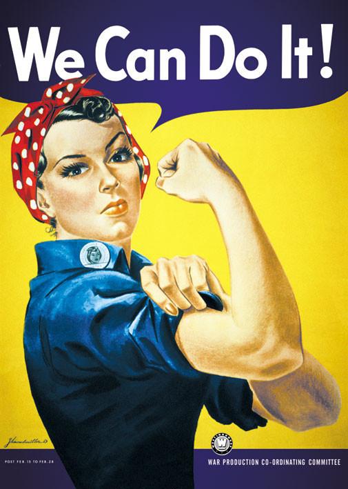 Plakát, Obraz - We can do it! - To zvládneme!, (61 x 91,5 cm)