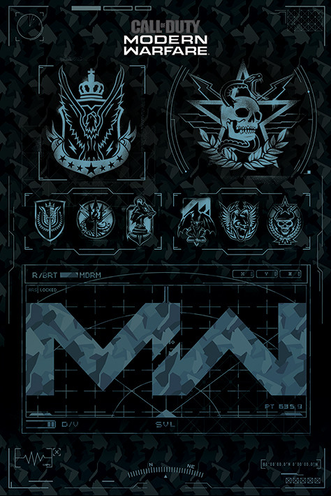 Plakát, Obraz - Call of Duty: Modern Warfare - Fractions, (61 x 91,5 cm)