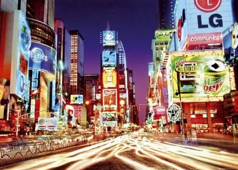 Plakát, Obraz - New York - time square, (140 x 100 cm)