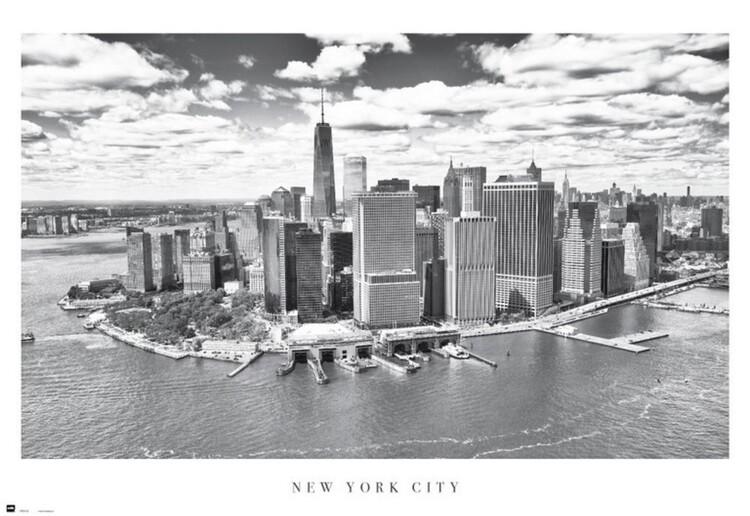 Plakát, Obraz - New York City - Airview, (61 x 91,5 cm)