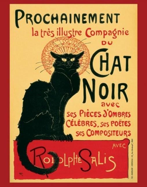 Plakát, Obraz - Le Chat noir, (40 x 50 cm)