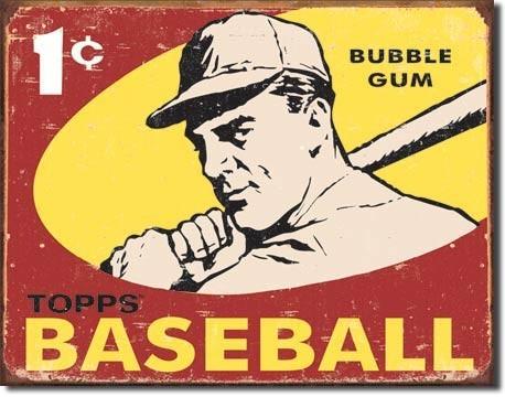 Plechová cedule TOPPS - 1959 baseball, (41 x 32 cm)
