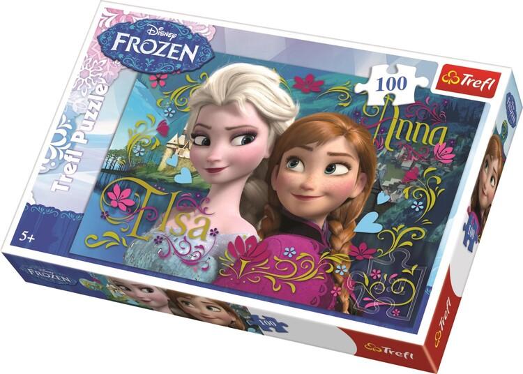 Puzzle Ledové království: Anna a Elsa