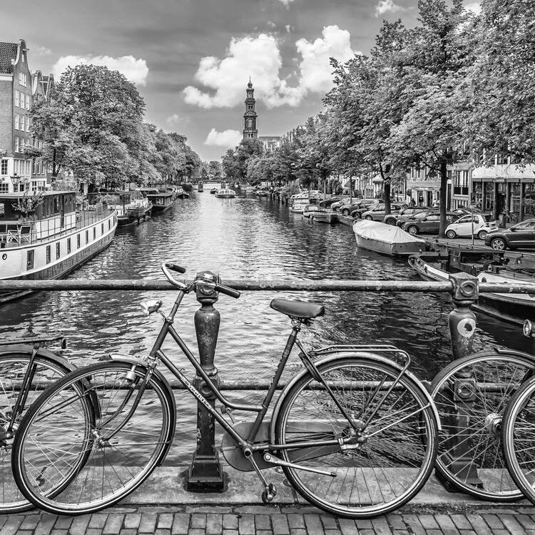 Umělecká fotografie Typical Amsterdam | Monochrome, Melanie Viola 40x40 cm