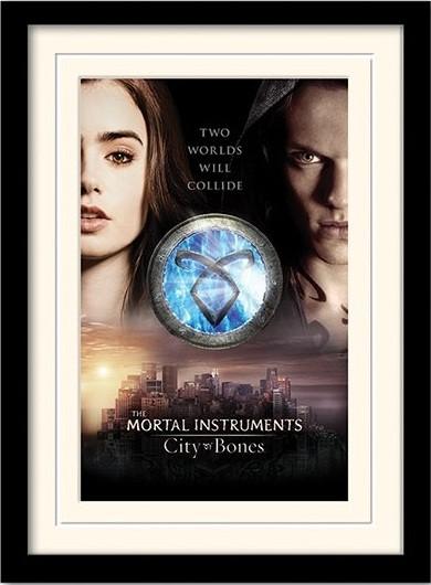 A VÉGZET EREKLYÉI : CSONTVÁROS – two worlds  üveg keretes plakát