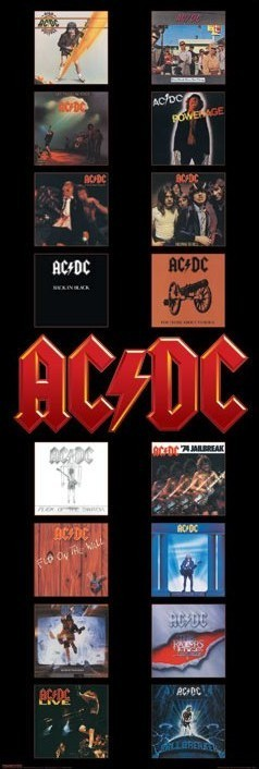 AC/DC Albums - плакат (poster)