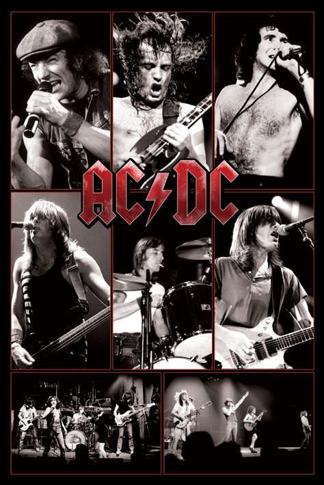 AC/DC - live - плакат (poster)