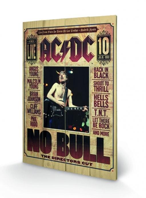 Bild auf Holz AC/DC - No Bull