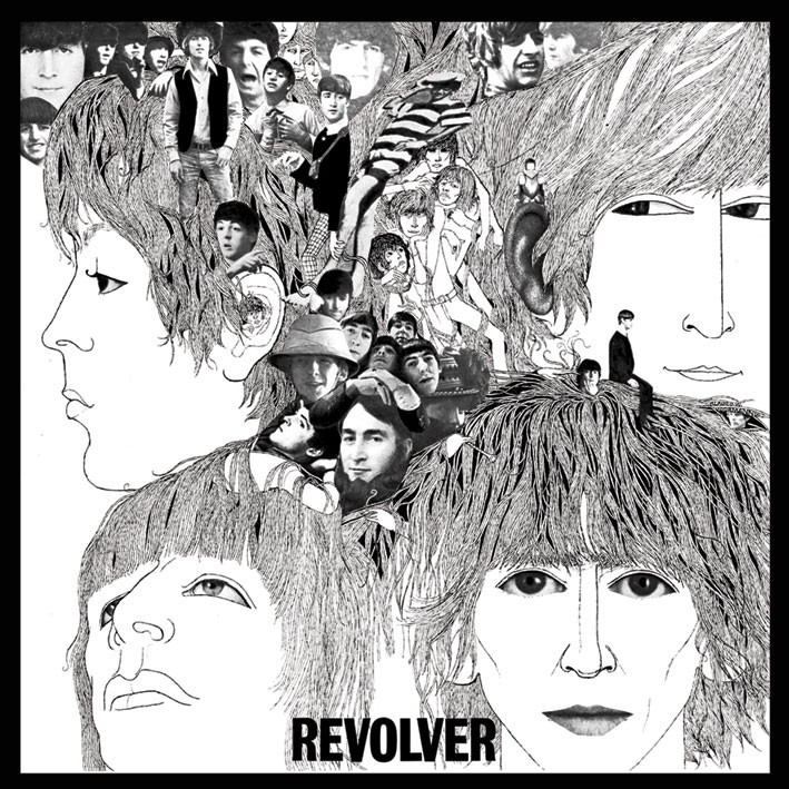 BEATLES - revolver - adesivi in vinile
